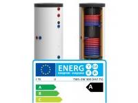 """Boiler bivalent dublu emailat  200 litri clasa de eficienta energetica  A """"+75 mm HVI"""