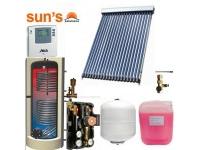 Pachet panouri solare 3 persoane, panou SPF 20 tuburi, boiler 200 L, 2 serpentine