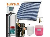 Pachet  panouri solare 4 persoane, panou SPF 22 tuburi, boiler 200 L, 1 serpentina
