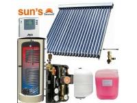 Pachet  panouri solare 4 persoane, panou SPF 22 tuburi, boiler 200 L, 2 serpentine
