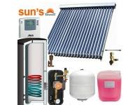 Pachet panouri solare 5 pers.economic panou SPF 24 tuburi, boiler 200 L, 1 serpentina