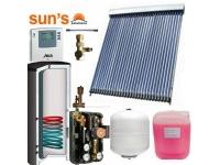 Pachet panouri solare 6 pers. panou SPF 30 tuburi, boiler 300 L, 1 serpentina