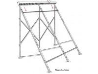Suport aluminiu panou WTB 58/1800-A 20 montaj pe acoperis plan sau terasa